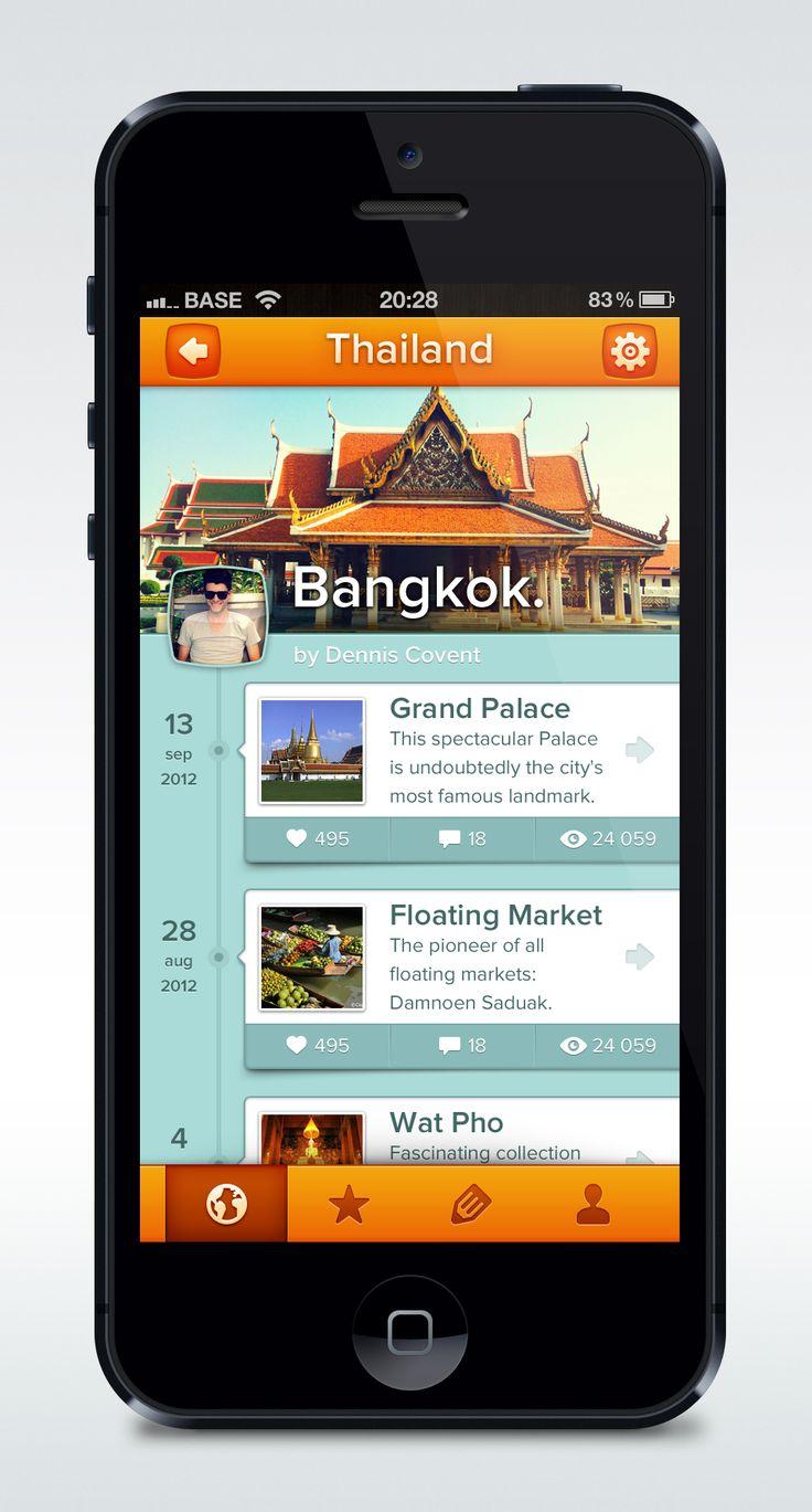 Dribbble social app ui design jpg by ramotion - App Full Pixels