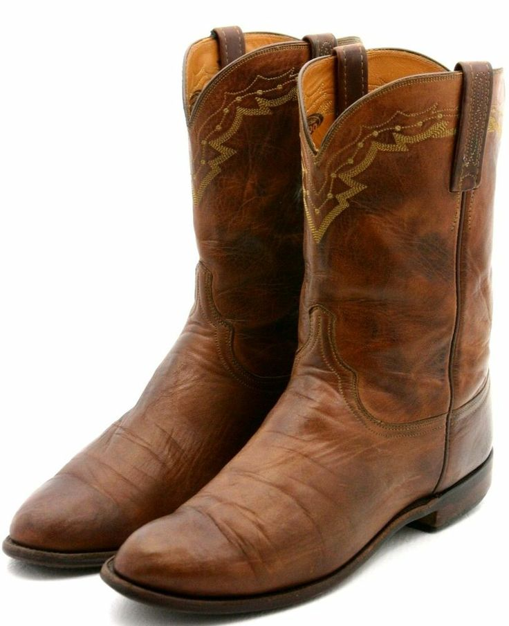 Lucchese 2000 Mens Cowboy Boots Size 105 D Brown Leather