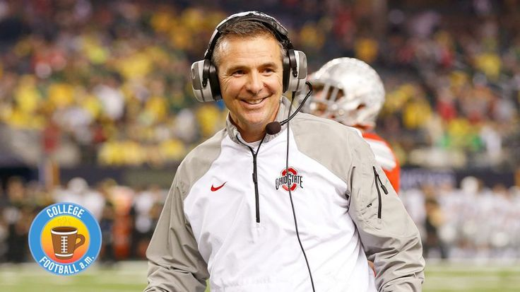 Jan 12, 2015; Arlington, TX, USA; Ohio State Buckeyes head coach Urban Meyer smiles late in the fourth quarter against the Oregon Ducks in the 2015 CFP National Championship Game at AT&T Stadium. Mandatory Credit: Matthew Emmons-USA TODAY Sports