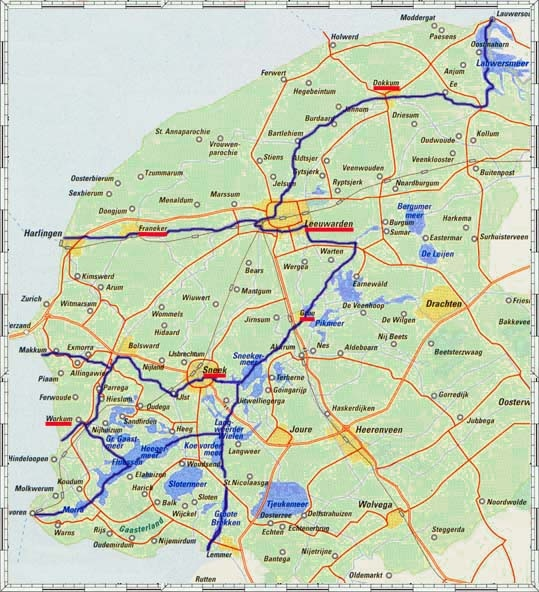 map of Friesland