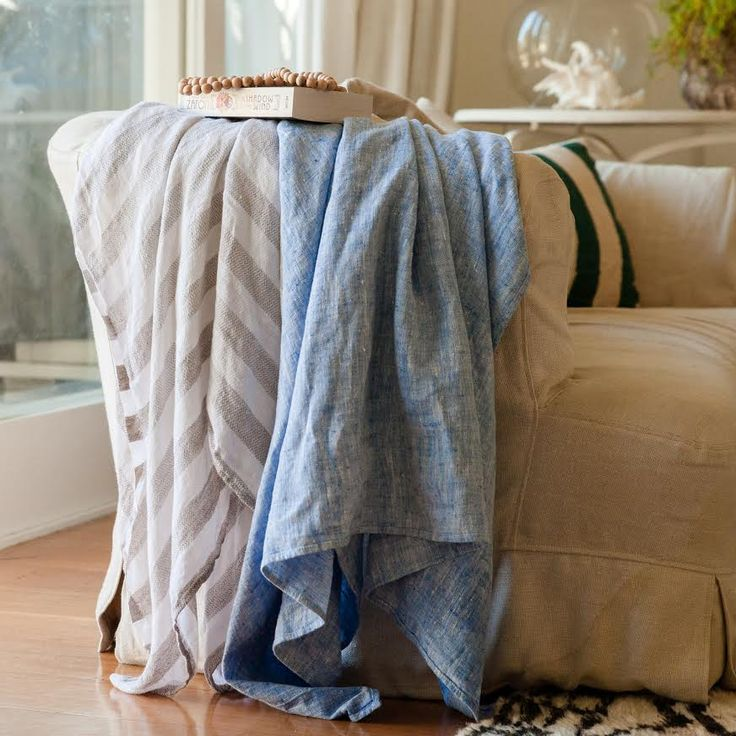 Linen Bath and Beach Towel - AUD $60.00  Made from – 100% Linen Made in – Lithuania by Rasa Care – Machine washable warm, hang dry Tip - Soak in cold water and wash before first use. Size: 100X140