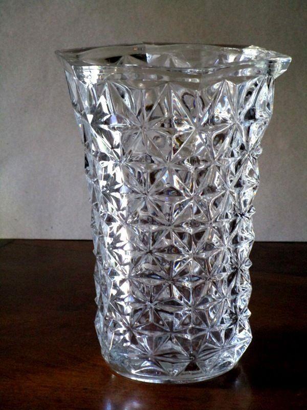 ancien grand vase en cristal moule vers