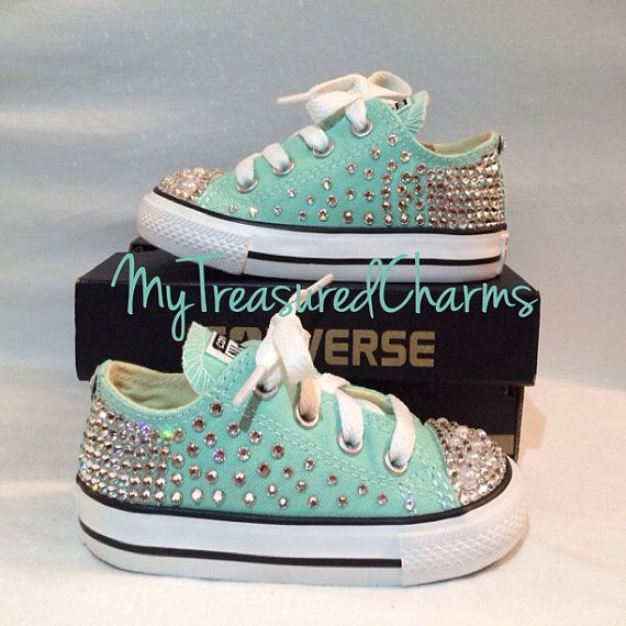 Hey, I found this really awesome Etsy listing at https://www.etsy.com/listing/194760315/toddleryouth-swarovskipearl-converse
