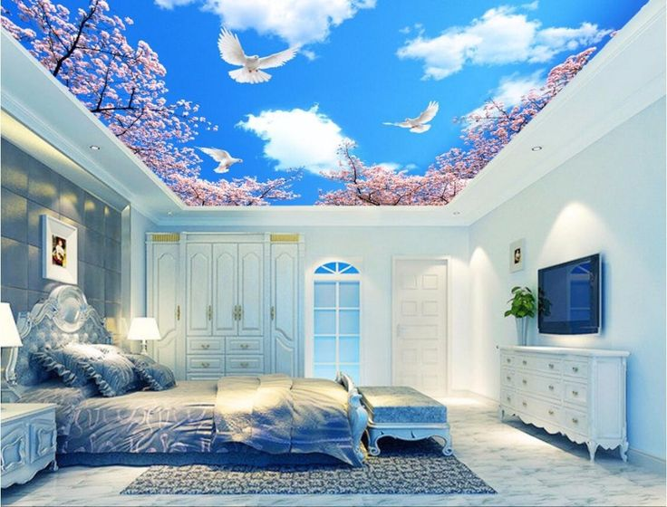 25 best ideas about ceiling murals on pinterest ceiling for Cloud wallpaper mural