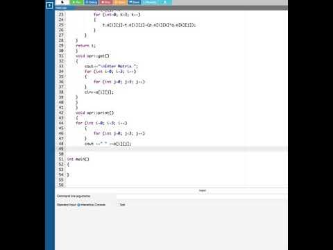 Matrix Multiplication Using Operator Overloading In CPP   Computer Aided...