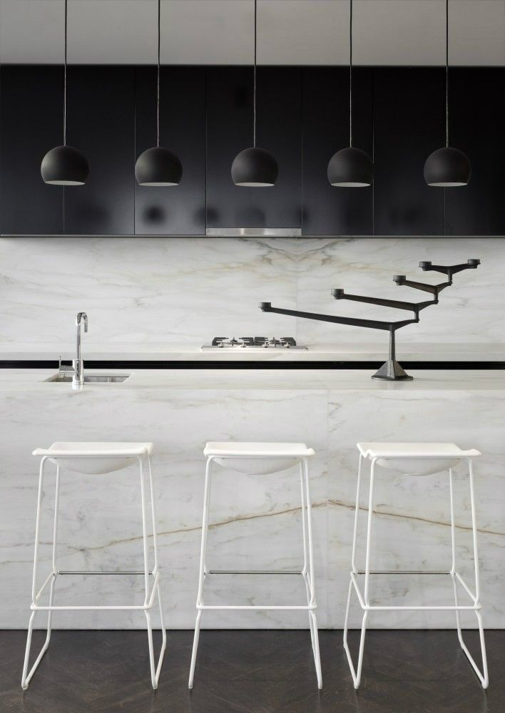 Inspired Black and White Kitchen Designs 25