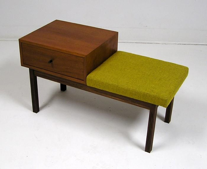 1960S teak telephone table...for Frank's Central Park West Apartment...telephone sits on here