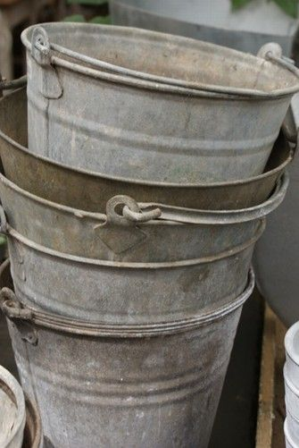 I use these old buckets all the timmop, haul dirt to flower pots, take recycling out, hold ashes from wood stove, .......