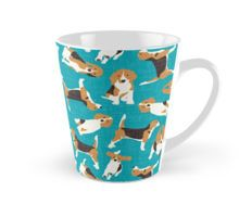 beagle scatter blue Tall Mug