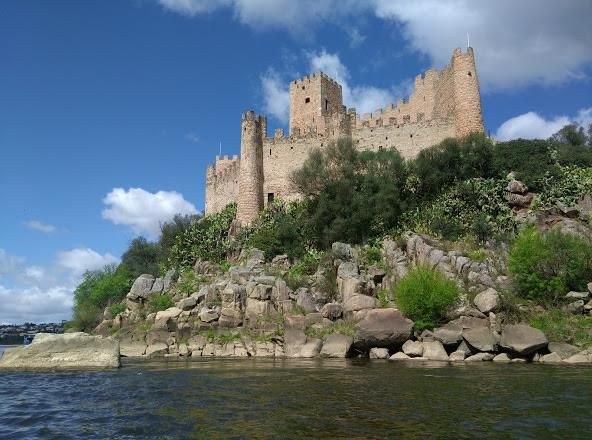 Castle Of Almourol In The Middle Of The Tagus River Portugal Castles Castle Portugal River