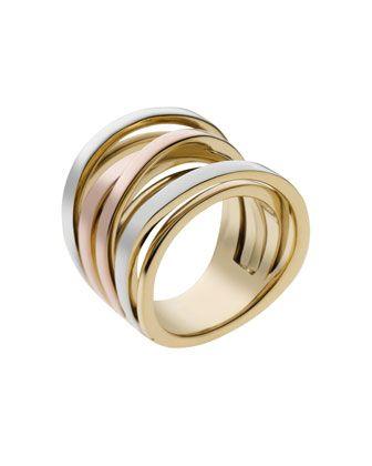 Michael+Kors+Large+Interwoven+Ring,+Tri-Color.