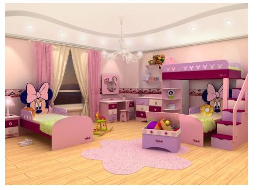 MINNIE MOUSE BEDROOMS so cute I can't wait to do the girls room when we move!!!  dormitorios.blogspot.com