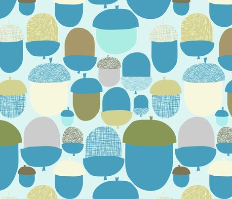 ACORN FIELD fabric by trcreative on Spoonflower - custom fabric
