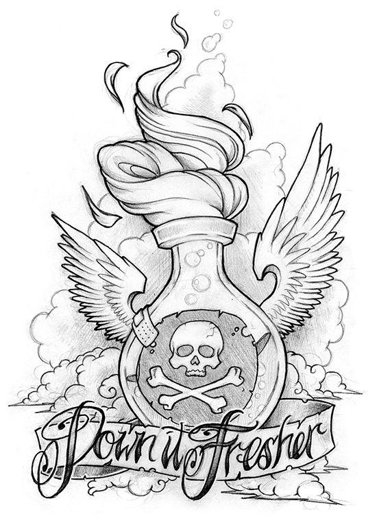 Down It Fresher #tattoo #tattoossketch #sketch
