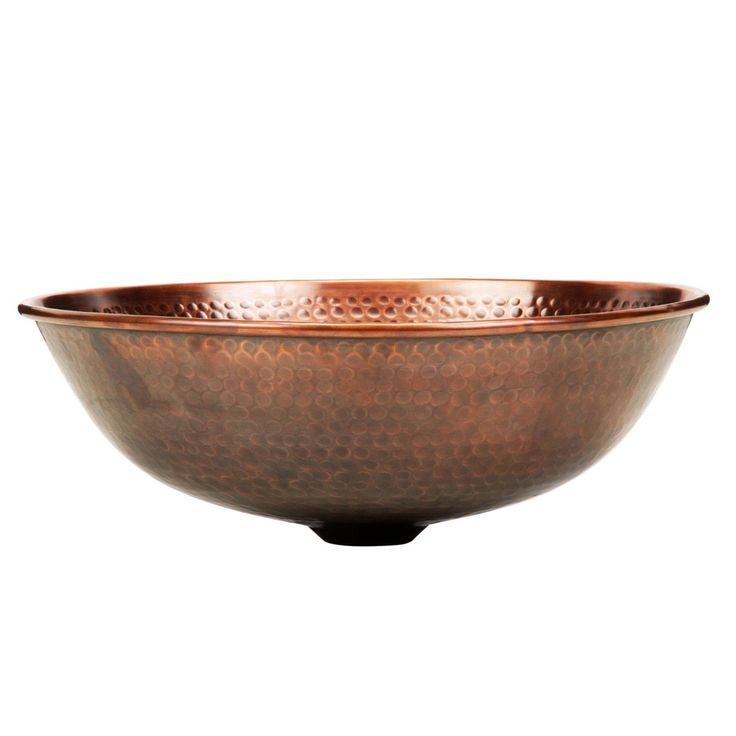 Milan™ Copper Vessel Sink - Bathroom Sink Hammered