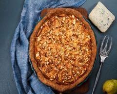 Quiche au fromage à pâte persillée et aux noix