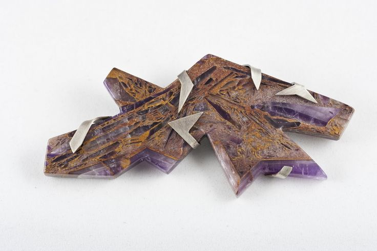 RMIT Gold and Silversmithing Fundraising Auction 2011:  Chris Massey Brooch -  Amethyst in aggregate, sterling silver