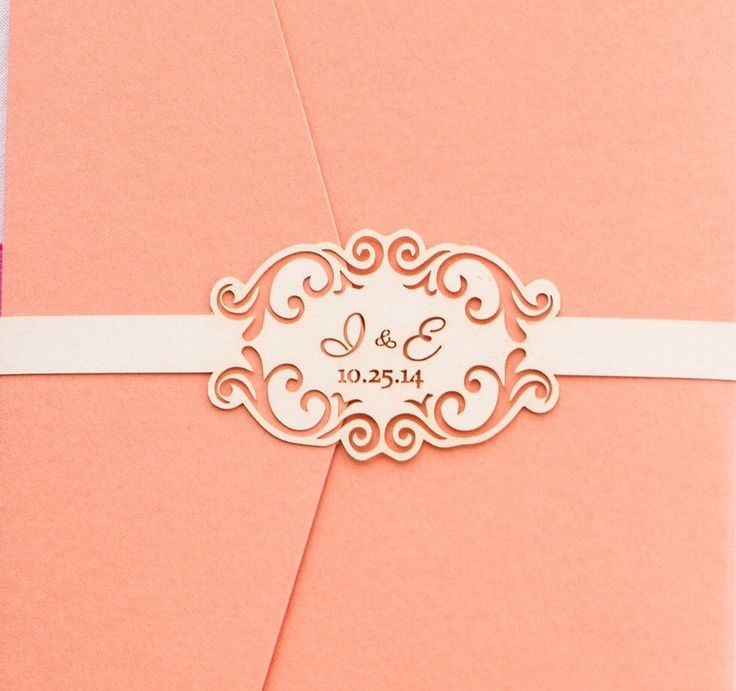 wedding invitation belly band by onceuponadinner on etsy