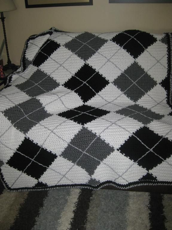 Argyle Crochet Afghan Pattern : Crocheting Ideas Project on Craftsy: More Argyle Happy ...