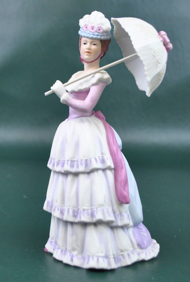 Home interiors victorian lady w parasol homco 1431 Home interiors figurines homco