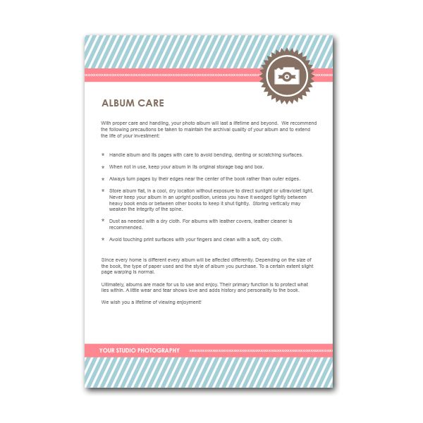 Album Care Client Card