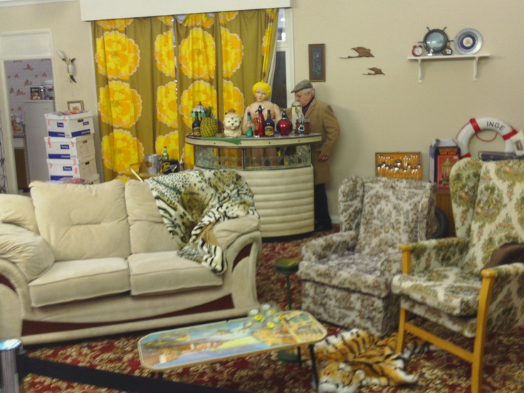 Del boy standing on our carpet. Only Fools and Horses stand at the Ideal Home Show March 2013. #lounge