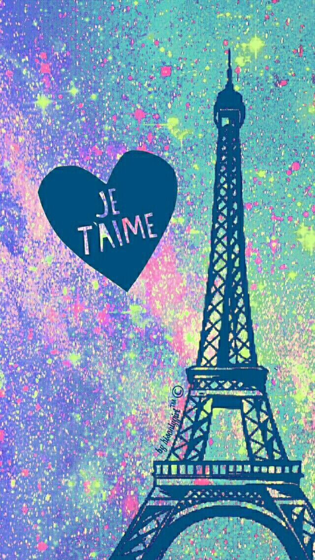 Vintage Eiffel Tower galaxy glitter wallpaper I created for the app CocoPPa.