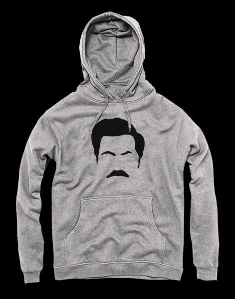 Great hoodie inspired by the show Parks and Recreation and the character Ron…