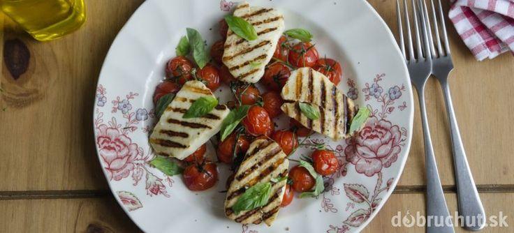 Grilovaný syr Halloumi so cherry paradajkami