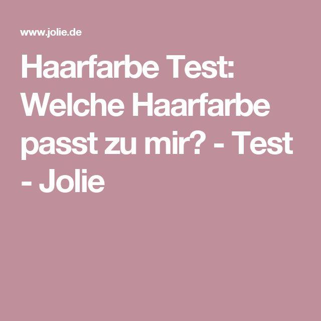 Haarfarbe Test: Welche Haarfarbe passt zu mir? - Test - Jolie