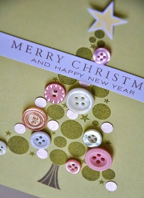 Buttons Christmas card