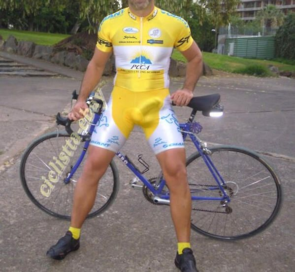 Congratulate, your Cyclist big bulge in lycra thanks