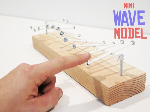 Mini Wave Model what a great lesson for kids, and watching it would me entertained for hours!