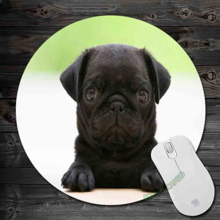 Black Pug Puppy 2016!Art Mouse Pad Anti-Slip Round Mousepad Gift Gaming Speed Mice Mats