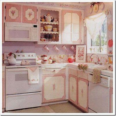 .keia artes: Cozinhas cor de rosa.