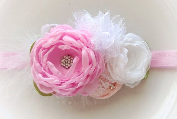 Pretty n' pink headband by JensBowdaciousBows on Etsy, $15.95