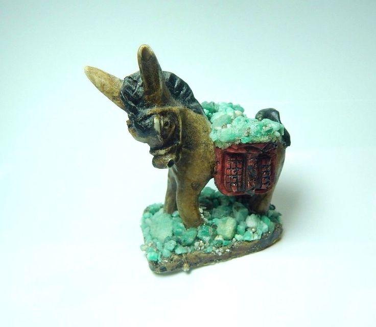 Colombian Emerald Donkey Natural Rough Mineral Beryl and Quartz 67.10 Grams