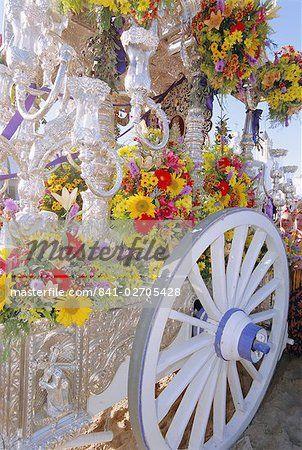 Romeria del Rocio festival, El Rocio, Andalucia (Andalusia), Spain, Europe