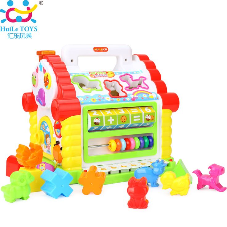 Multifungsi musical toys colorful geometric blok bayi fun house musik elektronik menyortir belajar pendidikan toys hadiah