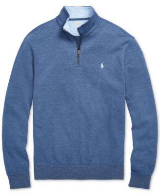 Polo Ralph Lauren Men's Big & Tall Half-Zip Pullover - Watch Hill Blue Heather 2LT