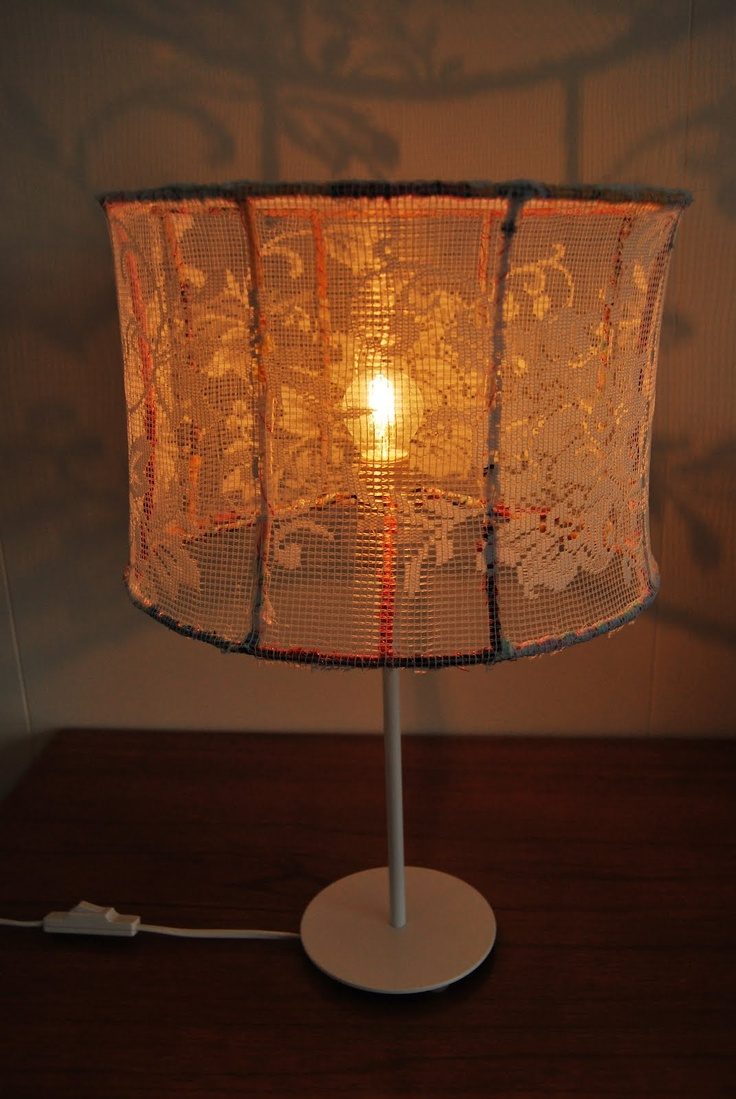 25 best lampshade upcycle images on pinterest lampshades lamp diy lace lampshade greentooth Gallery