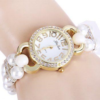 SHARE & Get it FREE | Yulan Quartz Chain Watch Double Beads Strap Diamond Round Dial for LadiesFor Fashion Lovers only:80,000+ Items·FREE SHIPPING Join Dresslily: Get YOUR $50 NOW!