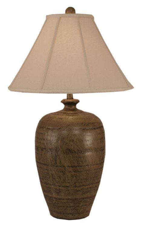 Brown Textured Pot Table Lamp