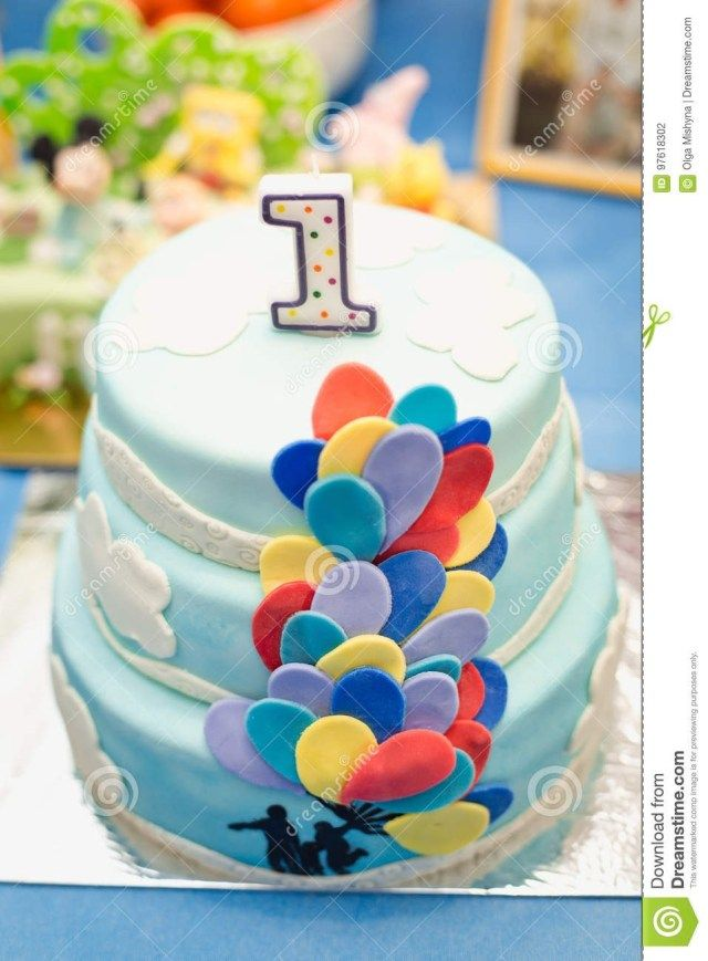 27 Marvelous Picture Of Blue And White Birthday Cake Boys 1st