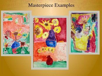 Elementary Art Lesson 1st Van Gogh Impressionism Pastel Watercolor Marzano DQ
