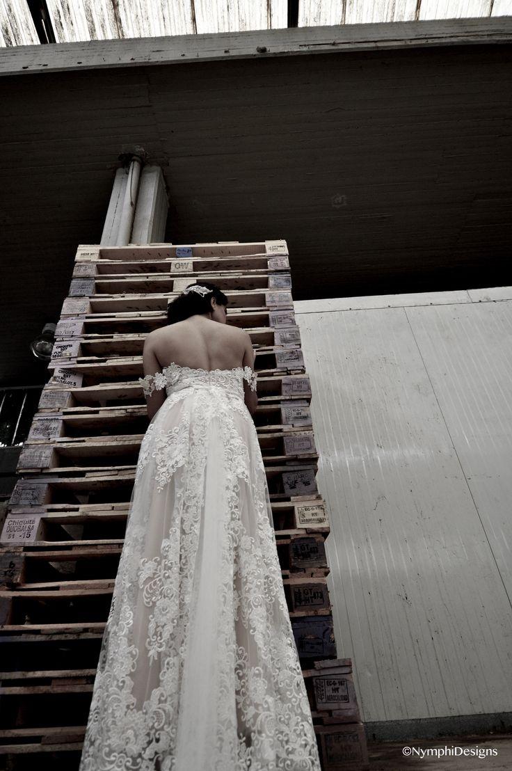 Rosalba bridal gown .Bachdi resort by Nymphi. www.nymphidesign.com  Lace, bridal, gown, Boho,wedding.veil.