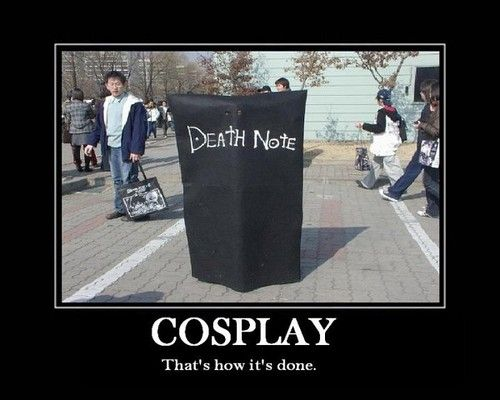 Death Note cosplay, literally a Death note cosplay. My cousin wanted to do this for Anime Banzai