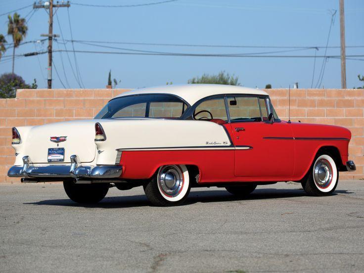 1955 Chevrolet Bel Air Sport Coupe 2454-1037D retro   j