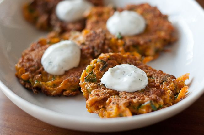 Carrot Fritters - Crispy carrot fritters are a tasty side or starter for a spring meal.