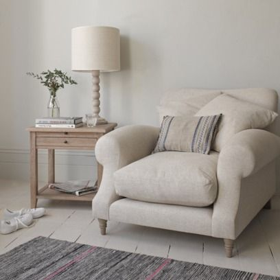 CRUMPET ARMCHAIR The sort of armchair worthy of taking out for a cream tea on a rainy afternoon. We've made it extra deep so it's perfect for schnuggling up on.